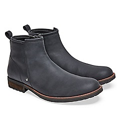 Joe Browns - Black west coast waxed leather boots