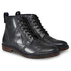 Joe Browns - Black leather 'Distressed To Perfection' boots