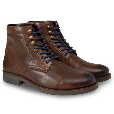 joe Marron   Marron - Marron  cuir hétéro bottes de style militaire 9d2e2d