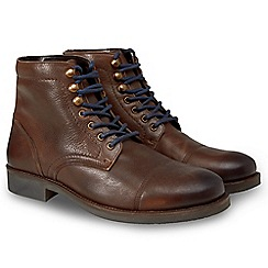 Joe Browns - Brown leather 'Straight Up' army style boots