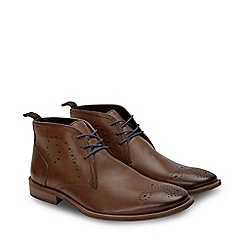 Joe Browns - Brown Leather 'Burnished Swirl' Desert Boot