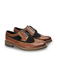 Joe Browns - Tan Leather and Suede 'Finest Full Apron' Brogues