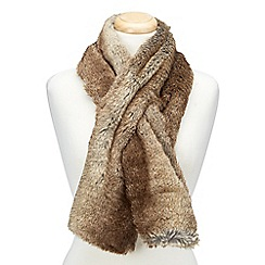 Joe Browns - Brown super soft faux fur stole