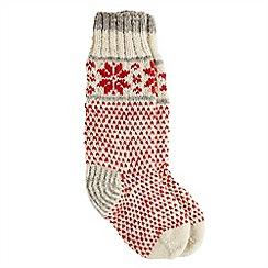 Joe Browns - Red snowflake woolly socks