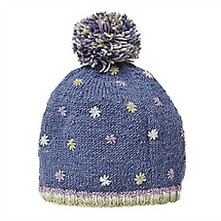 Joe Browns - Blue embroidered wool bobble hat