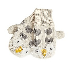 Joe Browns - Cream snowy owl mittens