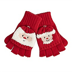 Joe Browns - Multi coloured Mr and Mrs santa gloves