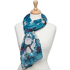 Joe Browns - Dark turquoise delightful floral scarf