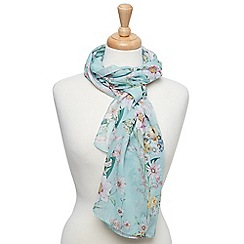 Joe Browns - Aqua delightful floral scarf