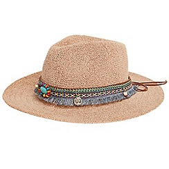 Joe Browns - Natural 'Costa Rica' bead trim hat