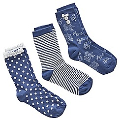 Joe Browns - Multi coloured pack of 3 pretty socks