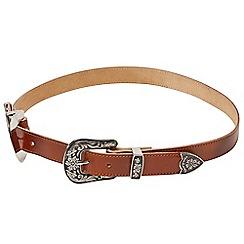 Joe Browns - Brown leather double buckle belt