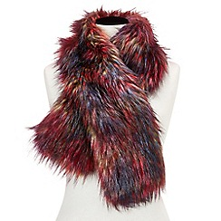 Joe Browns - Multicoloured northern lights faux fur stole
