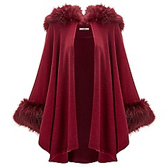 Joe Browns - Red fabulous faux fur cape