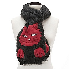 Joe Browns - Black fluffy and fun cat scarf