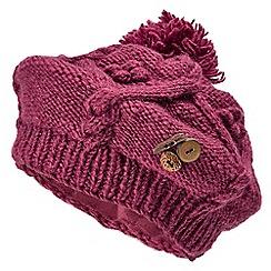 Joe Browns - Pink wool button trim beret
