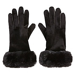 Joe Browns - Black anastasia faux fur gloves