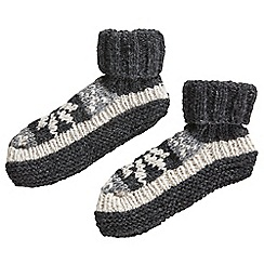 Joe Browns - Multi-coloured men's cosy wool slipper socks