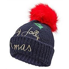 Joe Browns - Multicoloured holly jolly bobble hat