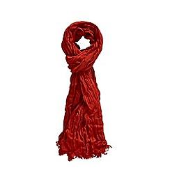 Joe Browns - Red 'rivo crinkle bamboo' scarf