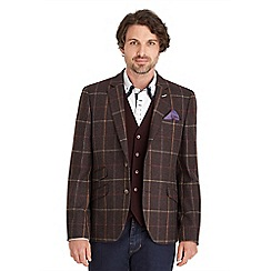 Joe Browns - Plum charming in check blazer