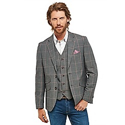 Joe Browns - Grey checked 'Charmed' regular fit blazer