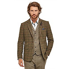Joe Browns - Brown checked 'Country' regular fit blazer