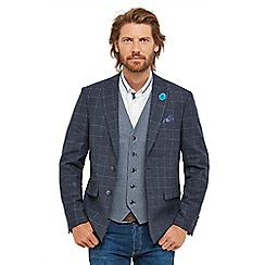 Joe Browns - Blue checked 'Fun and Funky' regular fit blazer