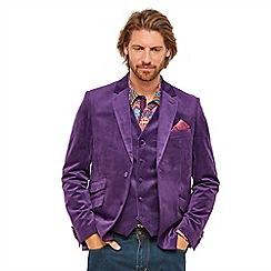 Joe Browns - Purple velvet 'Party Perfect' regular fit blazer