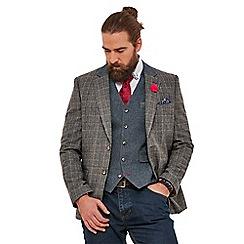 Joe Browns - Grey checked 'complementary' regular fit blazer