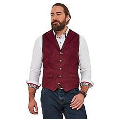 Joe Browns - Wine plain 'in tune' regular fit waistcoat