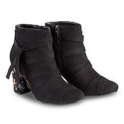 Joe Browns - Black suedette high block heel ankle boots