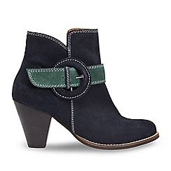 Joe Browns - Dark blue suede high heel ankle boots