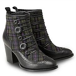 Joe Browns - Multicoloured 'Twist On Tweed' high block heel ankle boots