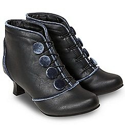 Joe Browns - Black 'Bewitching' mid heel ankle boots