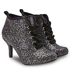 Joe Browns - Black glitter 'Paparazzi' ankle boots