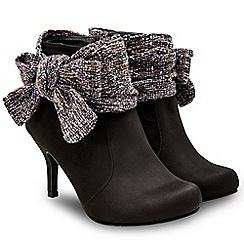 Joe Browns - Black 'Boutiquey Bow' ankle boots