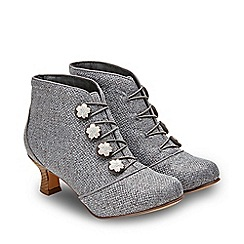 Joe Browns - Grey 'A Fine Spring Day' Mid Heel Shoe Boots