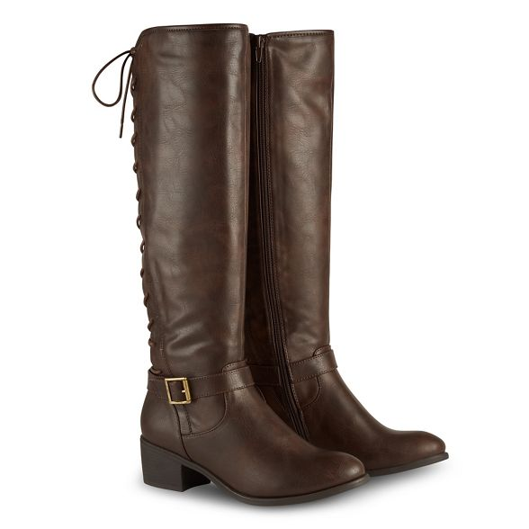 block knee Browns Brown Joe boots high heel 'Sensational' mid IgYnwq