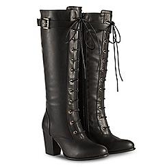 Joe Browns - Black high block heel knee high boots