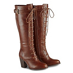 Joe Browns - Brown high block heel knee high boots