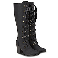 Joe Browns - Black 'Stylish Signature' high block heel knee high boots