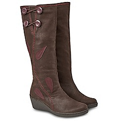 Joe Browns - Brown 'Manhattan' mid wedge heel calf boots