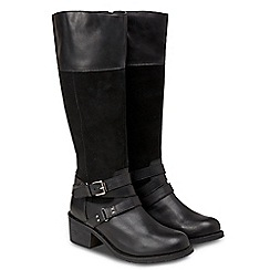 Joe Browns - Black leather 'Ultimate' mid block heel riding boots