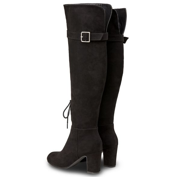 heel Black suedette 'Sassy' over the knee high block Joe boots Browns wUxnZZ