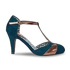 Joe Browns - Dark turquoise high stiletto heel t-bar shoes