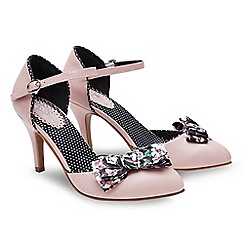 Joe Browns - Light pink 'Tea For Two' high stiletto heel ankle strap sandals