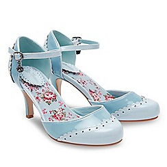 Joe Browns - Pale blue patent '42nd Street' high stiletto heel ankle strap sandals