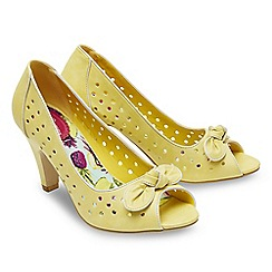 Joe Browns - Bright yellow 'Young At Heart' high stiletto heel peep toe shoes