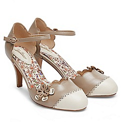 Joe Browns - Taupe 'Broadway' high stiletto heel ankle strap sandals